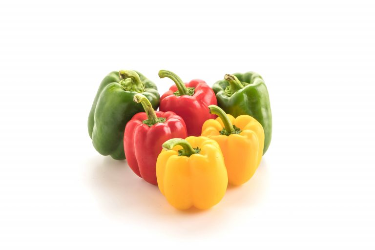 Bell pepper on white background